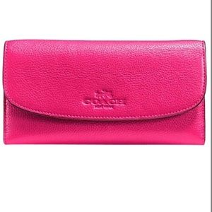 NWT COACH F52715 LEATHER CHECKBOOK WALLET